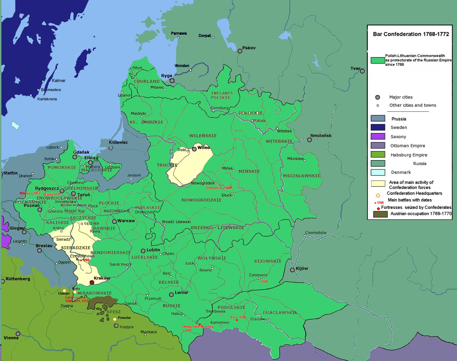 Война с Барской конфедерацией 1768-1772 гг.