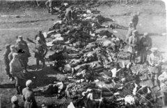 Тела расстрелянных в Аннинских укреплениях.