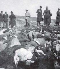 1918 г., Выборг, тела расстрелянных финнами русских
