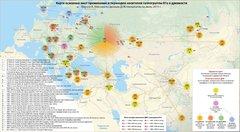 Карта и маршруты древних миграций гаплогруппы R1a.