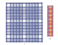 Цветовая реконструкция текстильных изделий вятичей.