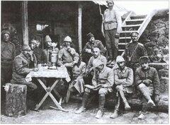 Пленные турецкие офицеры.