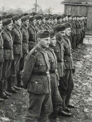 Гауптман 201-го полицейского батальона шуцманшафт Роман Шухевич.