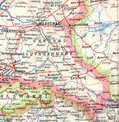 Немецкая карта Генерал-губернаторства, 1943 г.