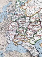 Карта 1926 года на которой изображен проект подразделения РСФСР на экономические области