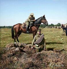 Воронка от снаряда. 1914 год.