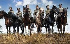 Группа разведчиков на лошадях 1914-1917