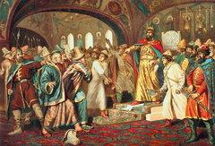Иван-III разрывает ханскую грамоту. Художник А.Д. Кившенко